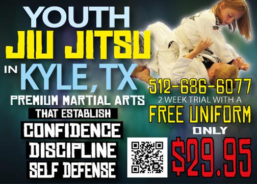 Local Deals! Youth Martial Arts for $29.95!!! Dojo Kyle Brazilian Jiu Jitsu