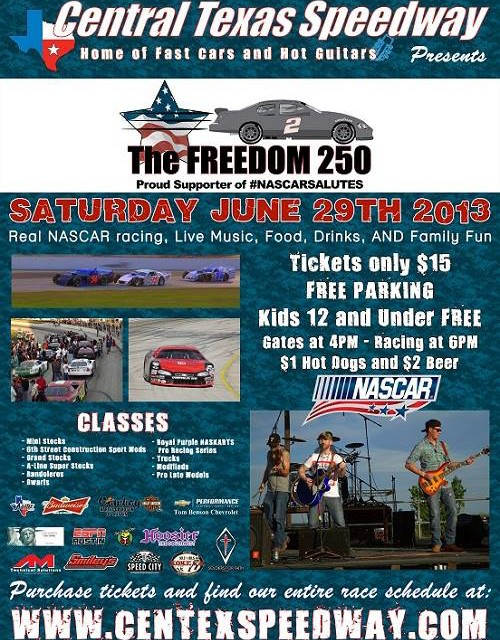 The Freedom 250, 2013 @ Central Texas Speedway