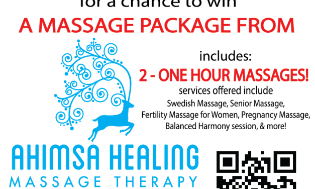 Massage Package Giveaway from Ahimsa Healing Massage!