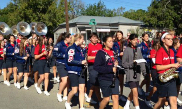 Hays High School Marching Band – Kyle Founders' Day Parade 2013