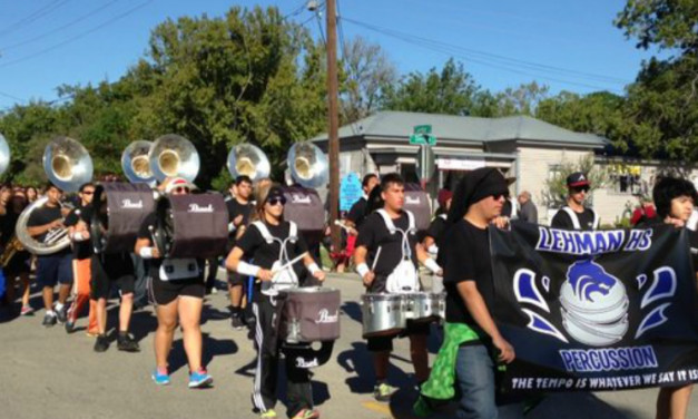 Lehman High School Marching Band – Kyle Founders' Day Parade 2013