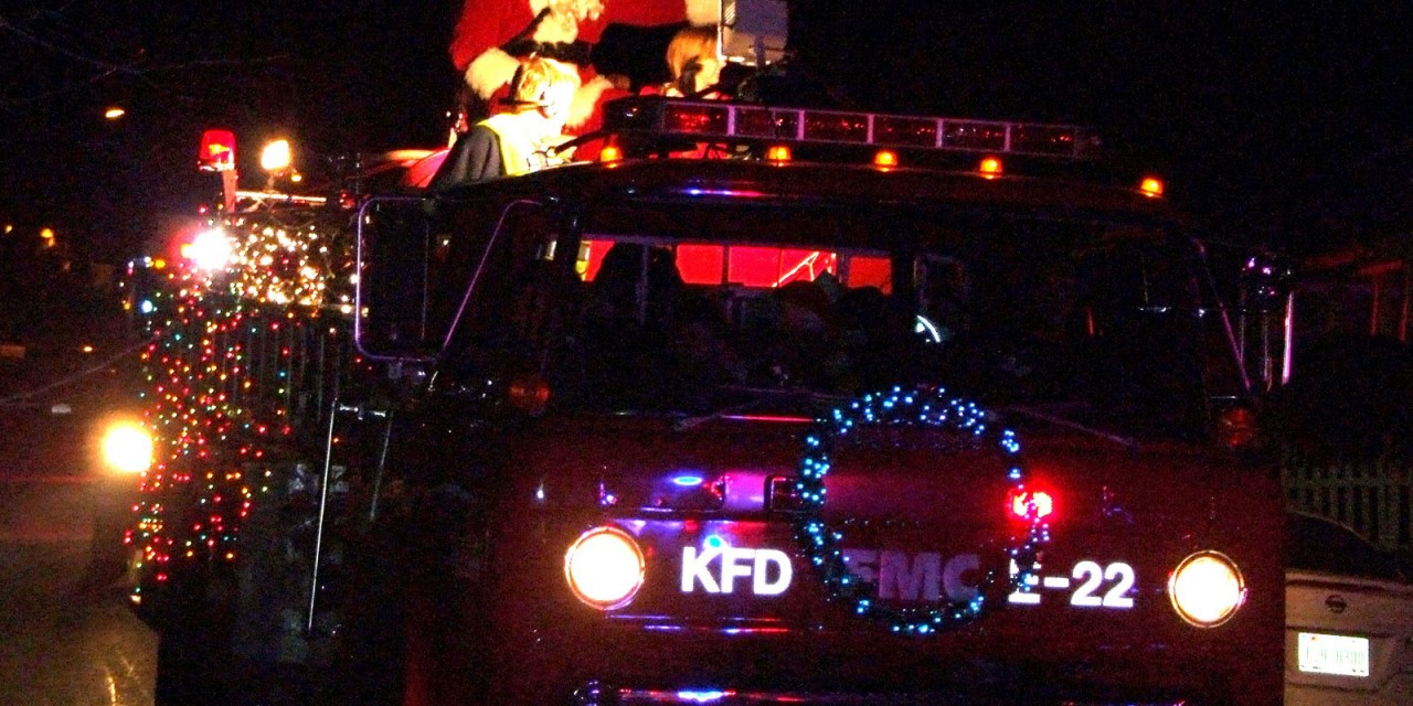 Santa Visits Kyle with the Kyle Fire Department! (Schedule)