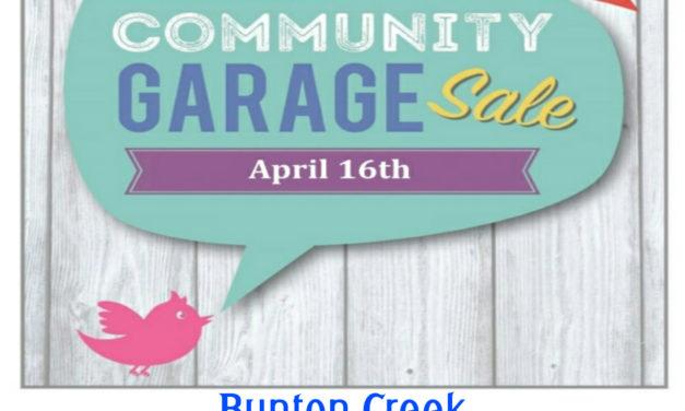 Bunton Creek Community Garage Sale!